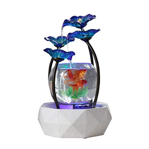 Thuis Water Fontein Decoratie Woonkamer Aquarium Kantoor Interieur Decoratie Glas Vis Tank Feng Shui Lucky luchtbevochtiger