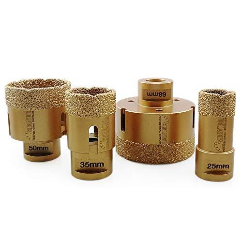 SHDIATOOL Diamant-bohrkrone 25/35/50/68mm für Porzellan Fliese Granit Marmor Trockenbohren