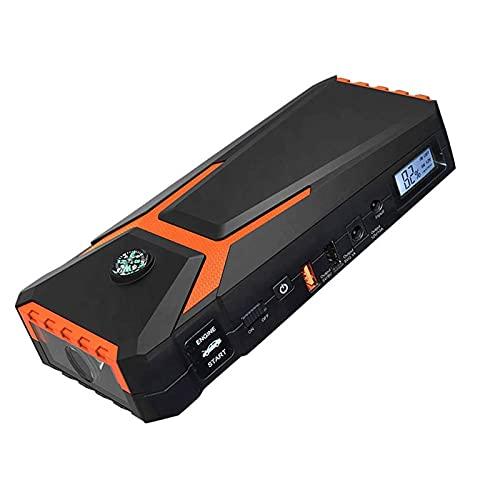GRFSD 800A 18000mAh Multifunción Arrancador De Coches,12V Jump Starter,Power Battery,Arrancador De Baterias De Coche For Todo Vehículo De Gasolina,con Modos De Luz LED Y 2 Puertos USB