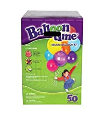 50 Latex balloons included Jumbo size BALLOON TIME helium kit