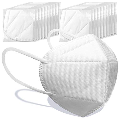 Disposable Individually Packaged Face Mask 20 Pack, Earloop Face Protection , 5 Layer Protection Breathable Cup Dust Mask, Comfortable Adjustable Earloop Suitable For Daily Use