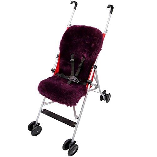 Lammfell - BUGGY Einlage Kinderwagen Felleinlage Baby Merino Schaffell Farbe Flieder