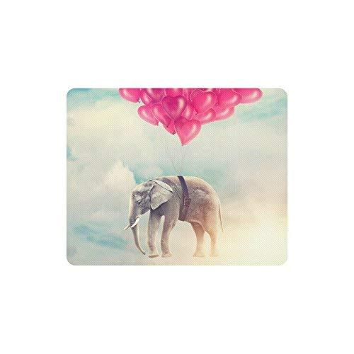 Lustiger Elefant mit Luftballons im Himmel Rechteck Rutschfeste Gummi-Mauspad-Mauspads / Mausmatten-Fallabdeckung für Home Office & Reisen