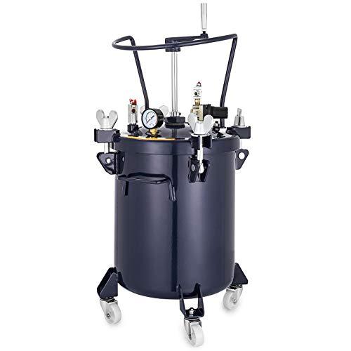 VEVOR Pressure Paint Pot 8 Gallon (30 liters) Pressure Pot Tank Spray Paint Pressure Pot Tank with Manual Mixing Agitator Paint Tank (8Gal 30L Manual)