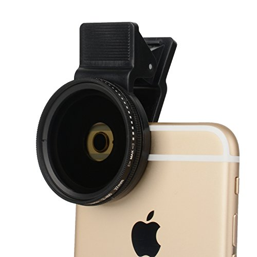 Zomei 37mm Cell Phone Camamera Lens Professional ND Circular Filter ND2-ND400 for Samsung Most Smartphones