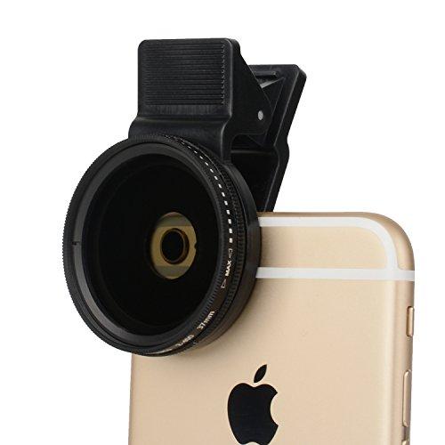 Lente de cámara para teléfono celular Zomei 37 mm Filtro ND2-ND400 para circular profesional ND200 para iPhone / 6 / 6s más Samsung La mayoría de los teléfonos inteligentes