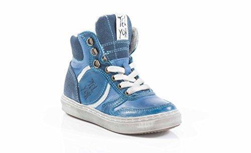 Telyoh Sneaker Sportschuhe aus Leder mit Filsfutter mit seitlichem Reißverschluß (31)
