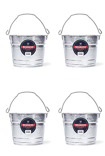 Behrens 1205 5-Quart Steel Pail 4 Pack