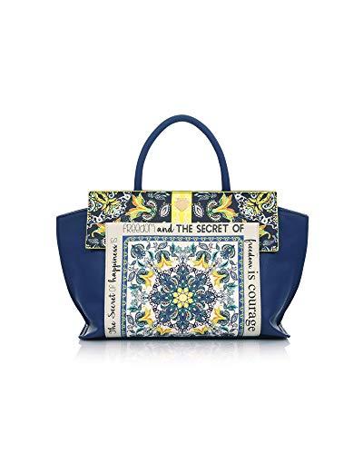 LE PANDORINE Donna Borsa Mosaik Bag HAPPINESS Blue PE19DAQ0231603 40x17x21.5 cm