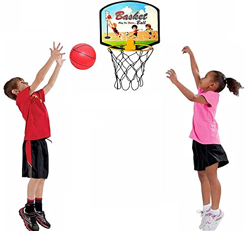 Ekan Wall Mounted Hanging Basketball Hoop with Ball for Playing Indoor/Outdoor Basketball Game for Kids and Adults