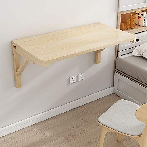 NWHJ Tavolino a Muro Wood Tavolo Pieghevole da Parete Multifunzione Salvaspazio Tavola da caffè Scrivania per Computer, Piccola 60x30cm,70x40cm,80x30cm