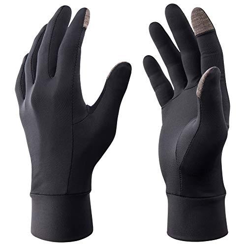 RIVMOUNT TouchScreen Gloves Ski Liner Gloves Lightweight Elastic for Winter Running Texting