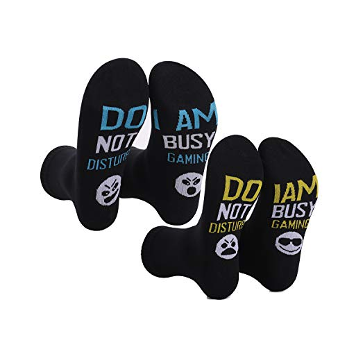 Im gaming Socks,do not disturb awesome funny gamer gifts for Teen Boys Teenage Mens Brother Gamer Kids Sons Husbands Boyfriends Guys Women (2 Pack)
