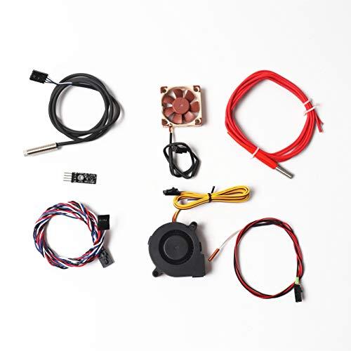 XBaofu 1set For Prusa I3 Mk3 3d Printer Hotend Electronics Parts, Thermistor, 24v 40w Cartridge, Filament Sensor,for Pinda V2, Left And For Noctua Fan