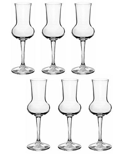 Bormioli Rocco Riserva Grappa 80ml, 6 bicchieri
