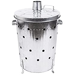 Home Discount® 75L Litre Incinerator Galvanised Metal Garden Fire Bin