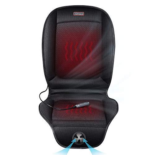 Snailax Car Seat Cushion with 3 Levels Cooling 2 Levels Heating Cool and Heating Pad for Car Truck Home Office