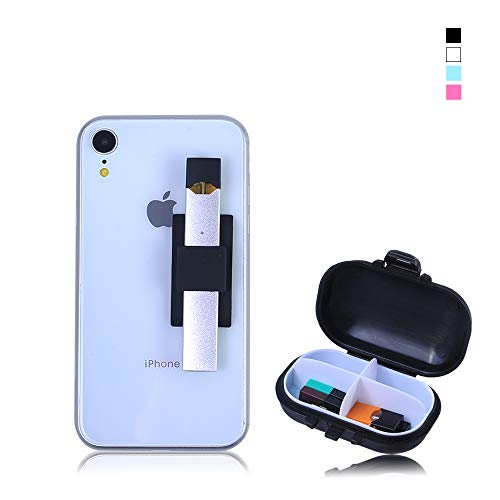 OrangeDance Juul Holder,Juul Phone case for The Back of The Phone,with Portable Accessory Box Suitable for pods and Chargers(Balck)
