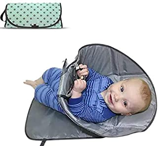Dailychic 3-in-1Portable Changing Diaper Mat Sheet Foldable Waterproof Wipeable Baby Travel Pad (Green)