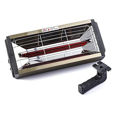 QJJML Lámpara de curado de Pintura infrarroja para Hornear 1000w, lámpara de curado de Pintura infrarroja para Secado de Cabina para Hornear en Aerosol para automóvil