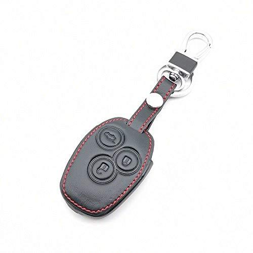 RWJFH Funda de Cuero para Llave de Coche Carcasa de Soporte para Renault Megane Clio Logan Kadjar 1 2 3 Scenic Koleos Key Remote, H Styles