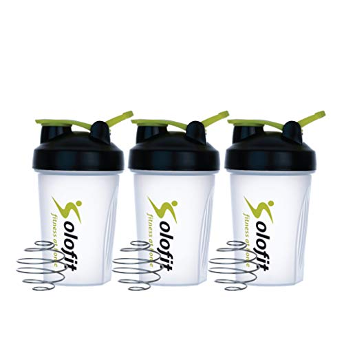 Solofit Protein Shaker Bottles with Shaker Balls– Leak Proof Smoothie