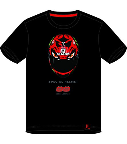 Pritelli 1831205/S - Camiseta de hombre Jorge Lorenzo Diablo Helmet, talla S