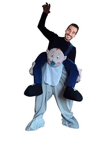Ikumaal Carry me Faschings-Kostüm, F110 Gr. M-XL, Baby als Huckepack, Männer-Kostüme Paar-Kostüme Gruppen-Kostüme, Fasching Karneval, Faschings-Kostüme, Geburtstags-Geschenk Erwachsene