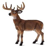 MOJO White Tailed Deer Buck Realistic International Wildlife Hand Painted Toy Figurine