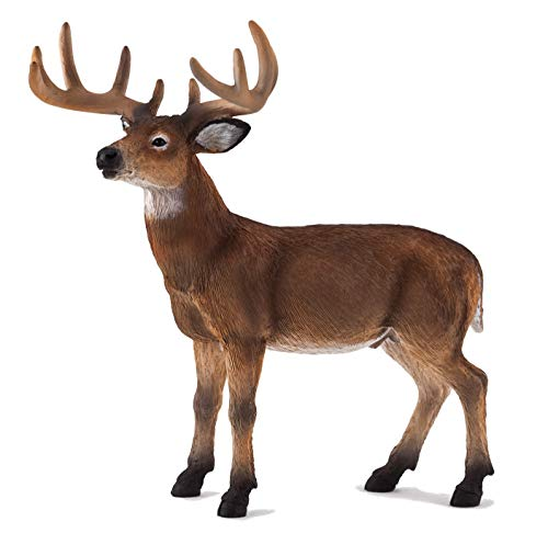 MOJO White Tailed Deer Buck Realistic International Wildlife Hand Painted Toy Figurine