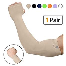 SHINYMOD Arm Sleeves,Men Women Warmer Gloves Compression UV...