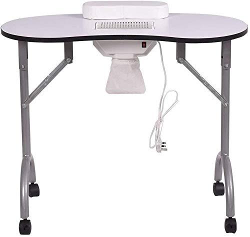 Ting Ting Nail Tabelle Manikürtisch Folding Salon Spa mit Nagel-Staubsauger und Beutel-beweglicher Belüftete Nagel Schreibtisch-Arbeitsplatz 0301