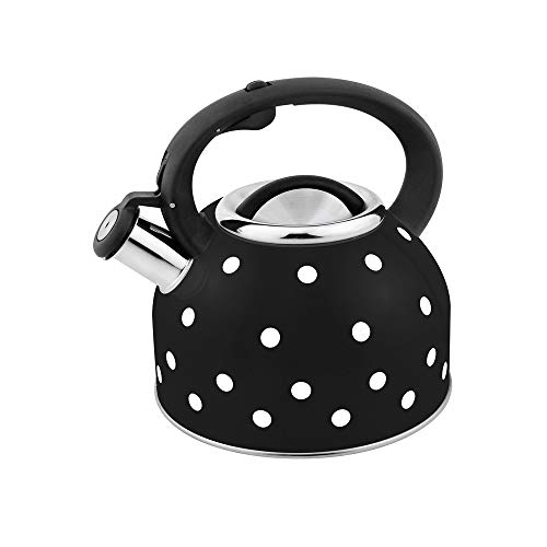 RYTLG New Dot Design Water Kettle Colorful Stainless Steel Whistling Kettle Induction Cooker Gas Stove Household Large Capacity (Color : A)