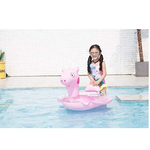 Baby Schwimmring Katze Schwein Bär Aufblasbarer Kreis Pool Party Spielzeug Kinder Baby Schwimmsitz Schwimmbad für Kinder Rosa Schwein 80x70cm
