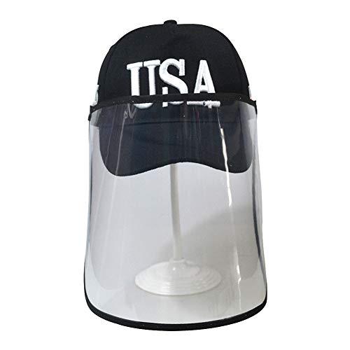 LY Unisexe 100% Casquette de Baseball Chapeau de Soleil Transparent Protecteur,Black
