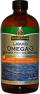 Nature's Answer, Liquid Omega-3, Deep Sea Fish Oil Epa/dha, Natural Orange Flavor, 16 Fl Oz (480 Ml)