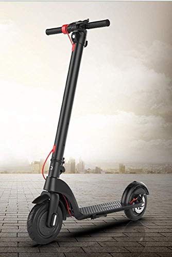 Gliding Movement The Hottest Foldable Best Electric Scooter Bike Smart Classic Electric Step Scooter with Seat Optional for Adults,Silver,Black SZWHO ( Color : Black )