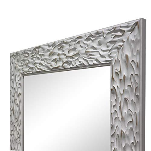 Espejo de Pared, Fabricado en España | Varios Tamaños y Colores | Ideal para Salón, Recibidor, Vestidor, Dormitorio y Baño. | (1038 Blanco, 56x149 cm)