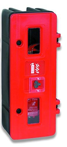 Jonesco hs70K único extintor armario con cerradura con llave, 6/9kg, rojo