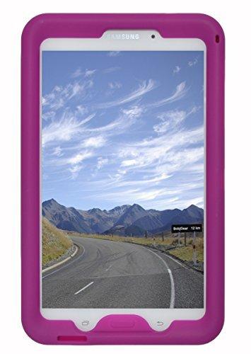 Bobj Rugged Case for Samsung Galaxy Tab 4 8-inch Tablet, Wi-Fi Model (SM-T330), 3G Model (SM-T331), 4G Models (SM-T335, SM-T337, SM-T337A), SM-T337A), and Other Models SM-T33.. (Not for Tab A 8) - BobjGear Protective Cover (Rockin' Raspberry)