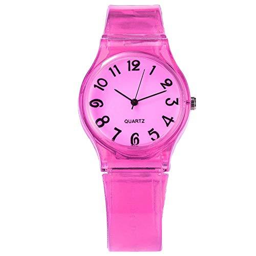 FafSgwq Reloj de Pulsera de Cuarzo con Banda Redonda de Silicona con...