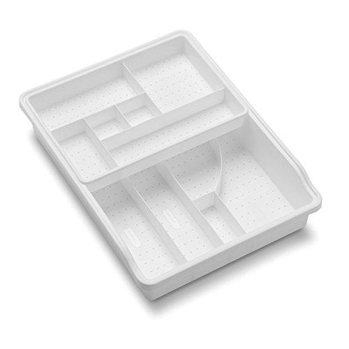 madesmart Original Junk Drawer Organizer-White | VALUE COLLECTION | 23-Compartments | Multi-Purpose Storage | Heavy-Duty | BPA-Free