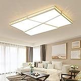 Joey Luces de techo Crystal Modern LED para sala de estar ultra-delgada lámpara de techo de 6 CM lamparas de techo factory Outlet, L52xW52cm, atenuación remota