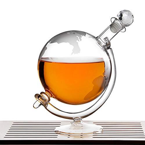 AP.DISHU Whiskey Carafes Decanters, met Cradle Holder - Hand Blown - Ideaal voor Wodka Whiskey, Scotch, Rum Tequila & Meer - Houdt tot 1000 Ml