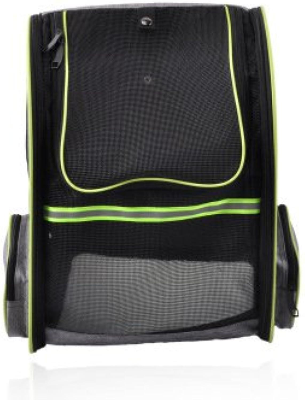 Dog Backpack Pet Bag MultiFunction Folding Cat Breathable Portable Travel Shoulder Bag Handbag Grey Oxford Cloth 33  26  42Cm