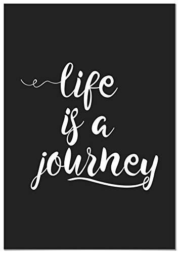 Panorama Póster Life is a Journey 21x30cm - Impreso en Papel de 250gr - Cuadro Frases Positivas - Póster Pared - Cuadros Decoración Salón - Cuadros para Dormitorio - Póster Decorativos