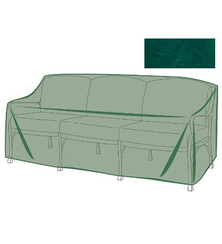 Plow & Hearth Outdoor Furniture All-Weather Cover for Sofa - Green…