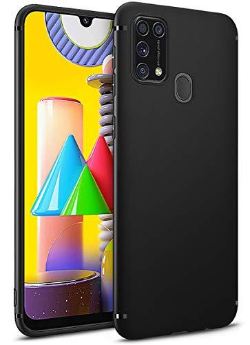 BENNALD Hülle für Samsung Galaxy M31 Hülle, Soft Schutzhülle Hülle Cover - Premium TPU Tasche Handyhülle für Samsung Galaxy M31 (Schwarz,Black)