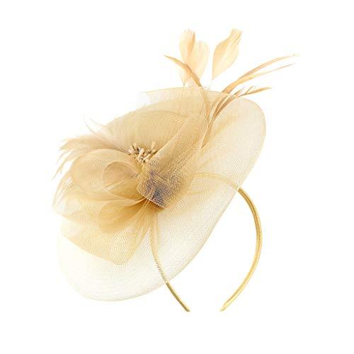 Haarschmuck Kopfschmuck Mesh Haar Clip Schleier Top Hut Mode Haarbänder Haarspangen haarreif Kopfbedeckungen Blumenkranz Braut Kopfschmuck Schleier Kranz Schleier Hochzeit Haarschmuck Beige/Beige