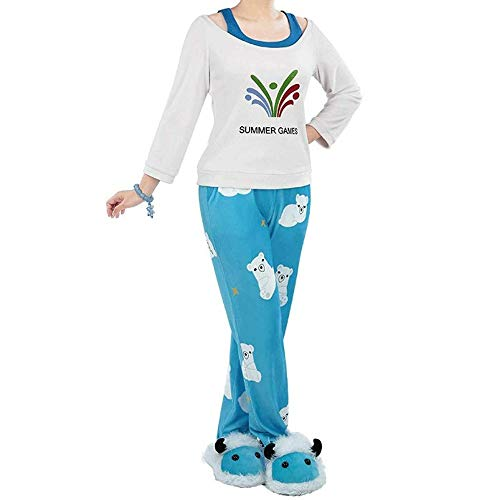 1/3 Delusion Overwatch Mei riseandshine Pyjamas Sleepwear Pyjamei Cute Cosplay Costume Wigs Halloween (s-m) Blue